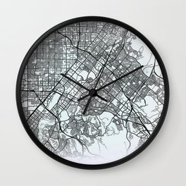 Irvine, CA, USA, White, City, Map Wall Clock