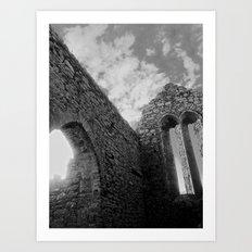 Corcomeroe Abbey Arch Art Print