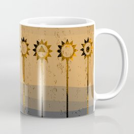 Sunflower Geometric Coffee Mug
