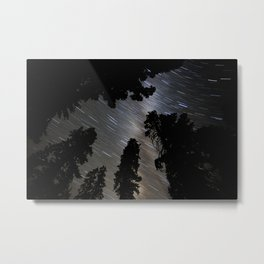 Pines, stars and the Milkyway Metal Print