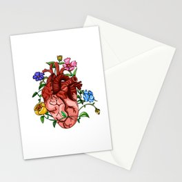 An Overgrown Floral Heart Stationery Cards