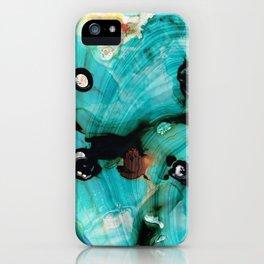 Aqua Teal Art - Volley - Sharon Cummings iPhone Case