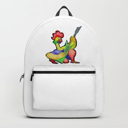 Rooster with Guitar Backpack