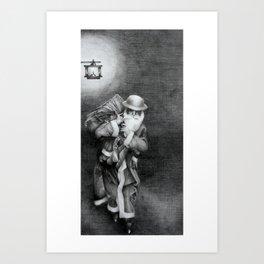 Blitz Christmas Art Print