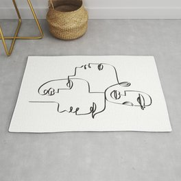 1 Line / 4 Faces Rug
