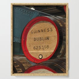 Guinness beer barrel - great man cave art! Serving Tray