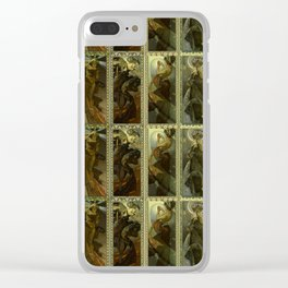 "Alphonse Mucha ""The Moon and the Stars Series"" Clear iPhone Case"