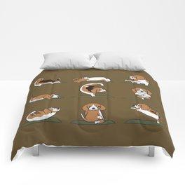 Beagle Yoga Comforters