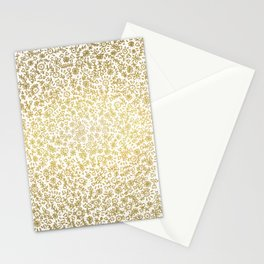 Golden little flowers Stationery Cards