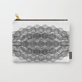 GEOMETRIC NATURE: COULOMB CRYSTAL b/w Carry-All Pouch