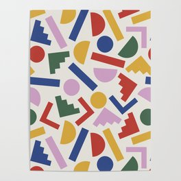 Colorful Geometric Shapes Poster
