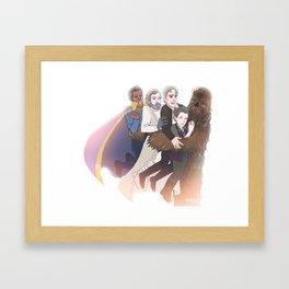 Wookie Hug Framed Art Print
