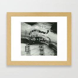 Violin with Psalms Bible Verse Framed Art Print