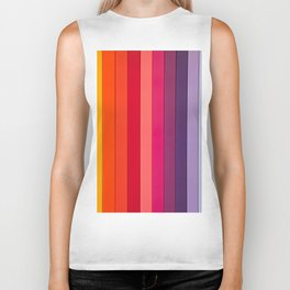 vertical lines colors Biker Tank