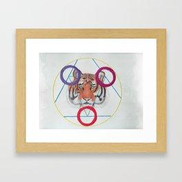 Sacred Tiger Framed Art Print