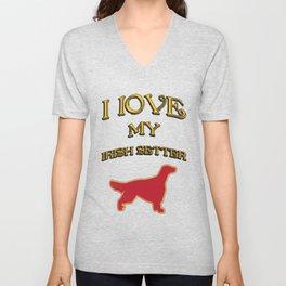 I LOVE MY DOG Unisex V-Neck