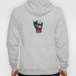 Czech Flag on a Raised Clenched Fist Hoody