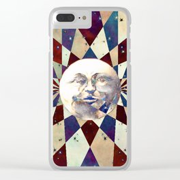 Space Odyssey - Man In the Moon Clear iPhone Case