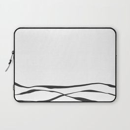 A Bottomless Sea No. 3 Black and white Laptop Sleeve