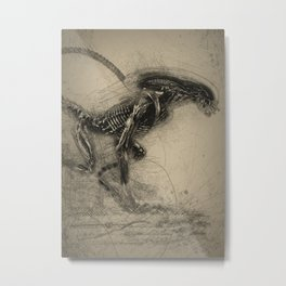 Alien Dog Metal Print
