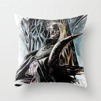 thranduil Throw Pillows featuring Thranduil by Melo Monaco