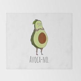 Avoca-no: Grumpy Avocado Throw Blanket