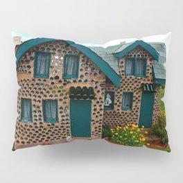 Green Gabled Bottle House Pillow Sham