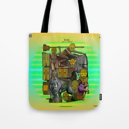 Mysticx & Magick - The Elementals: The Gaian Tribe of the Collective Earthly Divine Tote Bag