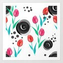 Abstract floral pattern tulips. by decoli