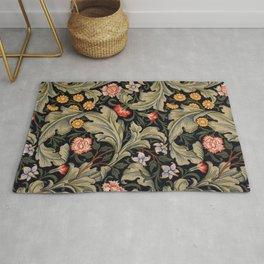 William Morris Laurel Multi-Colored Floral Textile Pattern Sunflower, Aster, Dahlia Rug