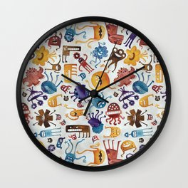 Critter Pattern 3 Wall Clock