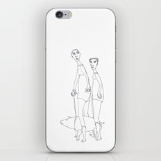 two girls and a dog iPhone & iPod Skin