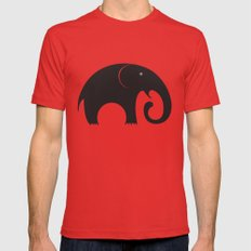 elephant Mens Fitted Tee LARGE Red