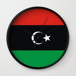 libya country flag Wall Clock