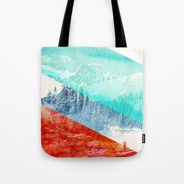 Mountain Stripes Tote Bag