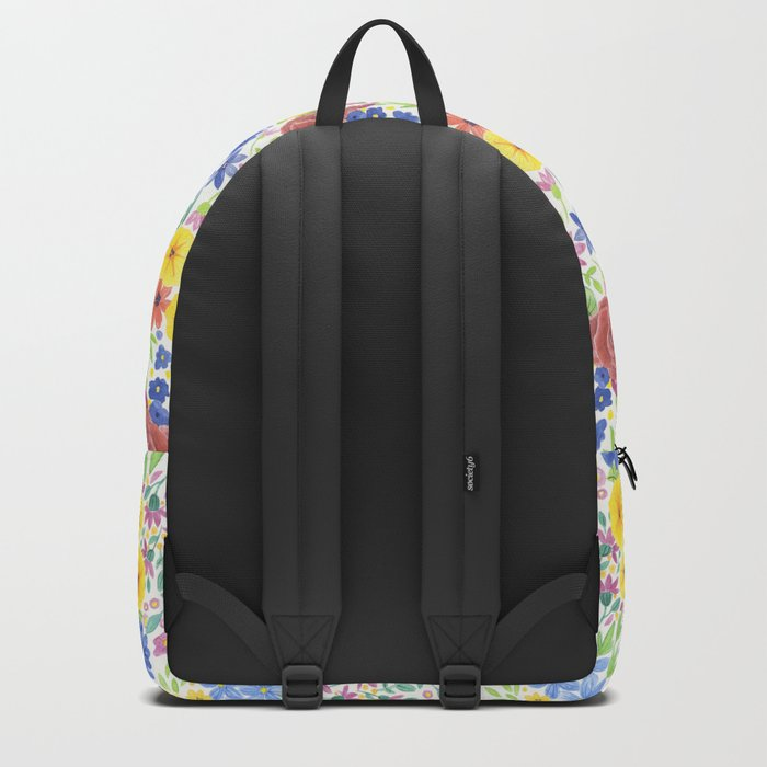Floral watercolor pattern white Backpack