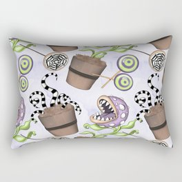 Season Halloween Flowers Pattern Rectangular Pillow