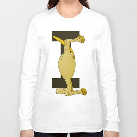 Pony Monogram Letter I Long Sleeve T-shirt