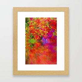 Potpourri flowers reflection Framed Art Print