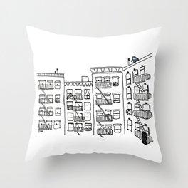 Pigeons of New York Throw Pillow