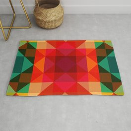 Abstract Bright Flower Pandi Rug