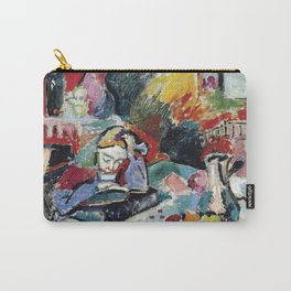 Interior with a Girl Reading - Henri Matisse - Exhibition Poster Carry-All Pouch