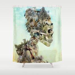 Nature Skull Shower Curtain