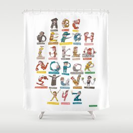 JOB-ABC Shower Curtain