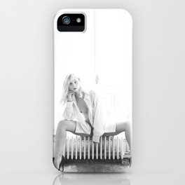 Elle savoure sa solitude // She savoured her solitude iPhone Case