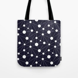 Abstract Network on Navy Tote Bag