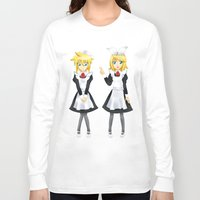 vocaloid Long Sleeve T-shirts featuring Kagamine Twins by Amber Steel
