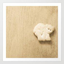 Animal Cracker - wood3 Art Print