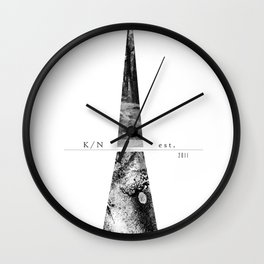 Kuro Noir tower Wall Clock