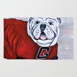 Georgia Bulldog Uga X College Mascot Rug